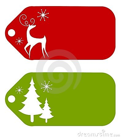 Free Christmas Gift Tags 2 Stock Images - 7086384