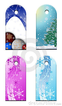 Christmas Gift Tags Royalty Free Stock Photography - Image: 5253207