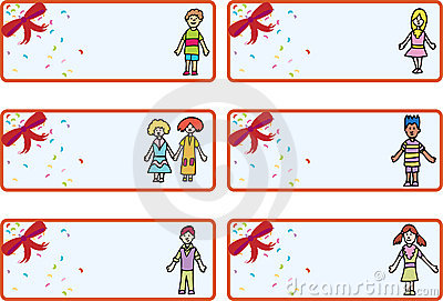 Christmas Gift Tags - Children