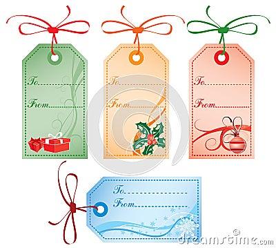 Christmas Gift Tags, vector