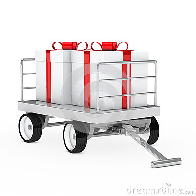 Christmas gift trolley