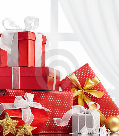 Free Christmas Gifts Royalty Free Stock Photo - 21309415