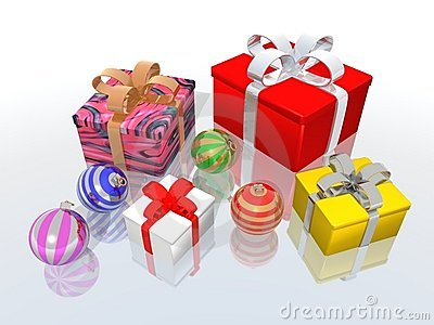 Christmas Gifts And Balls Stock Photo - Image: 3486320