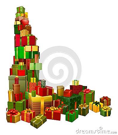 Christmas gifts corner design element