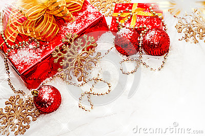 Royalty Free Stock Photos: Christmas gifts and decorations. Image: 27584618
