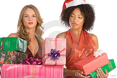 Christmas gifts discrimination between to women