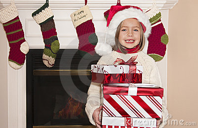 Christmas Gifts and Little Girl