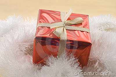 Christmas gifts in a red box