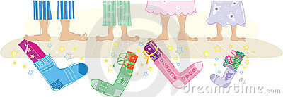 Christmas gifts in socks