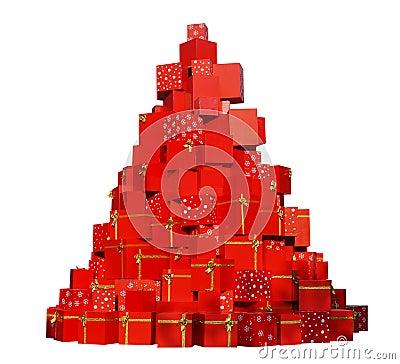 Free Christmas Gifts Tree Stock Photo - 36115870