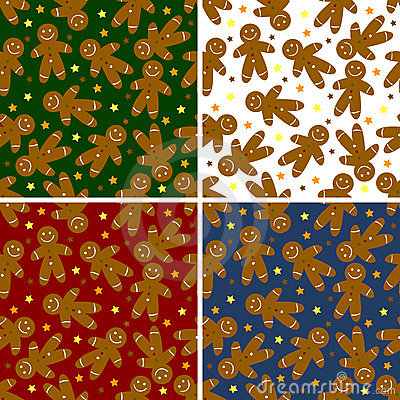 Christmas ginger bread seamless  pattern