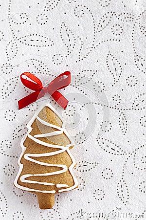 Christmas Ginger fir tree on white background