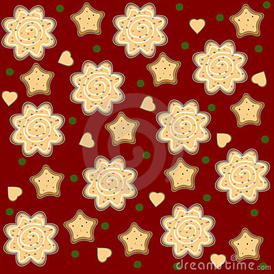 Christmas ginger seamless pattern vector