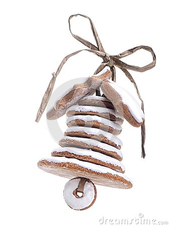 Christmas gingerbread bell