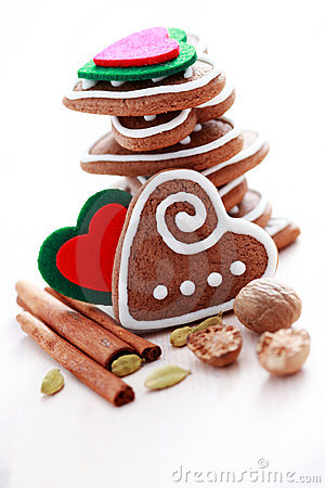 Free Christmas Gingerbreads Stock Photo - 17000600