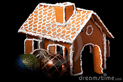 Christmas gingernut house