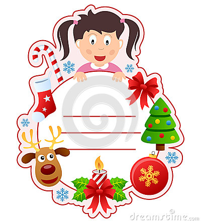 Christmas Girl Book Cover Frame