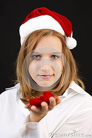 Christmas girl with christmas decoration
