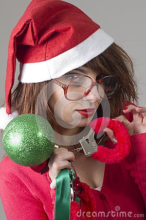 Christmas Girl handcuffed
