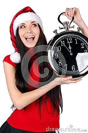 Christmas girl isolated