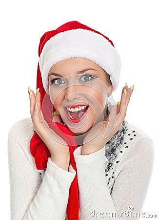 Christmas girl with perfect smile