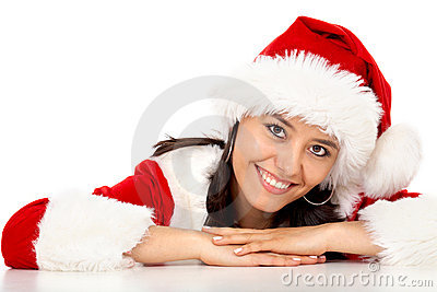 Christmas girl portrait