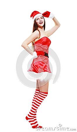 Christmas girl posing