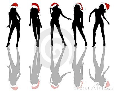 Christmas Girls Background