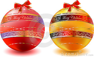 Christmas glas balls decoration background
