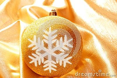 Christmas glitter golden snowflake bauble