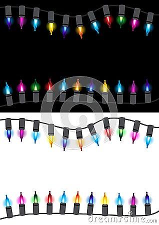 Christmas glow light border