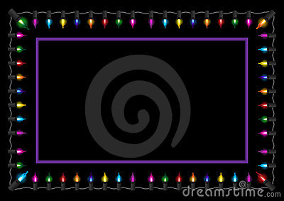 Christmas glow light border