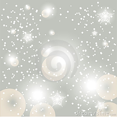 Christmas glowing snow background