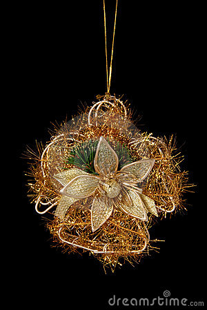 Christmas gold decoration angel