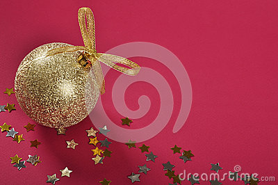 Christmas gold glitter bauble
