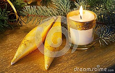 Christmas gold still-life