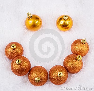 Christmas golden brightly sphere