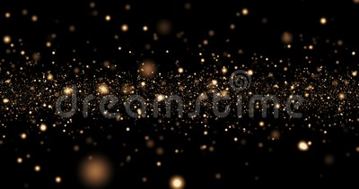 Christmas golden light shine particles bokeh loopable on black background, holiday congratulation greeting party happy new year. Christmas celebration concept stock footage