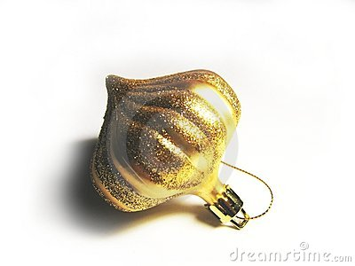 Christmas golden ornament