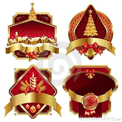 Free Christmas Golden Ornate Frames Royalty Free Stock Photography - 11812697
