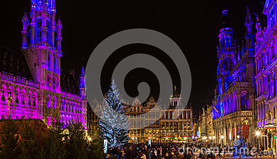 Christmas on Grand Place in Brussels