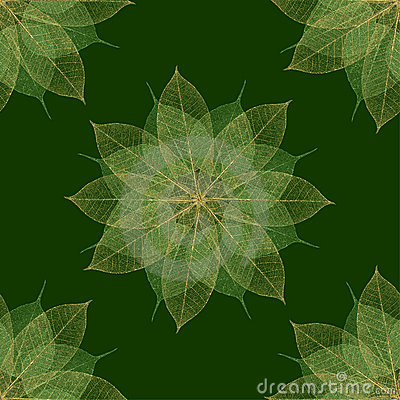 Christmas green floral pattern seamless