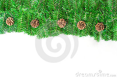 Christmas green framework with Pine needles