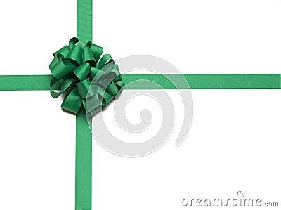 Christmas Green Ribbon and Bow