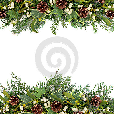 Free Christmas Greenery Border Stock Photo - 33268730