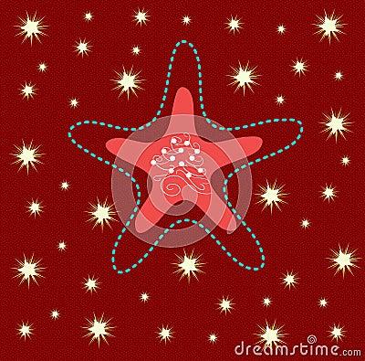 Christmas greeting card with nice star
