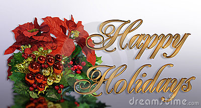 Christmas greeting card 3D Gold text