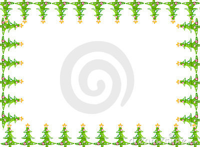 Christmas greeting card border