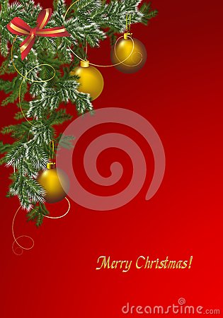 Christmas greeting card, cdr vector