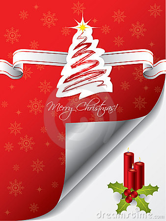Christmas greeting card design with candles